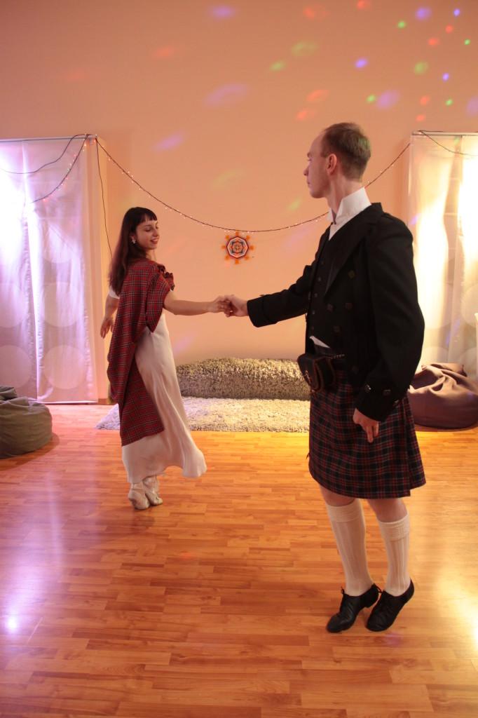 Павел и Татьяна Скопинцевы, шотландские танцы