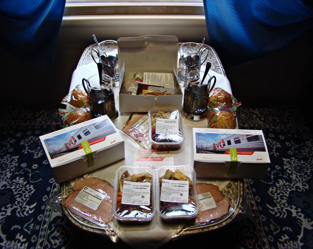 угощение для пассажиров vip-вагона