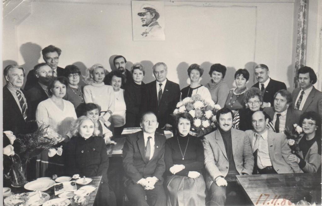 """Редакция газеты """"Волжская заря, 1986 год"""