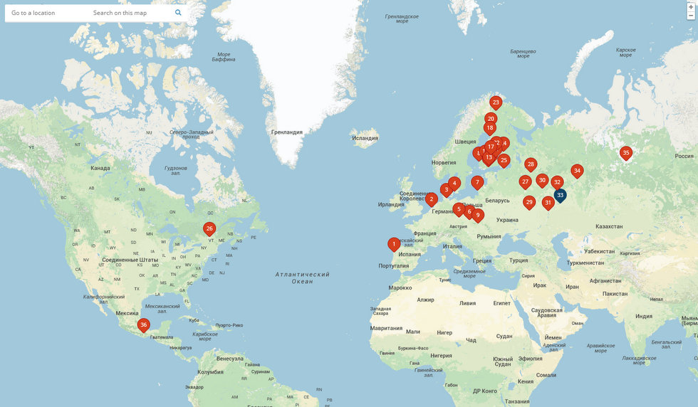 Скриншот карты сайта http://www.restaurantday.org/ru/