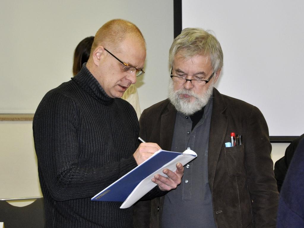 Александр Карпушкин и архитектор Сергей Малахов