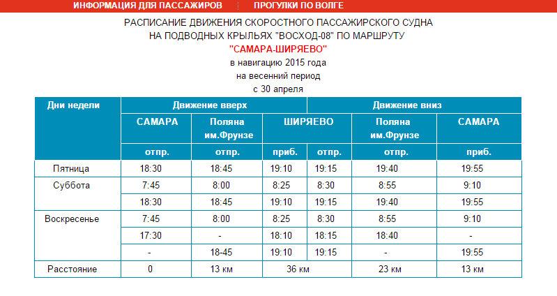 Скрин сайта: http://srpp63.ru/samara-shiryaevo-voskhod