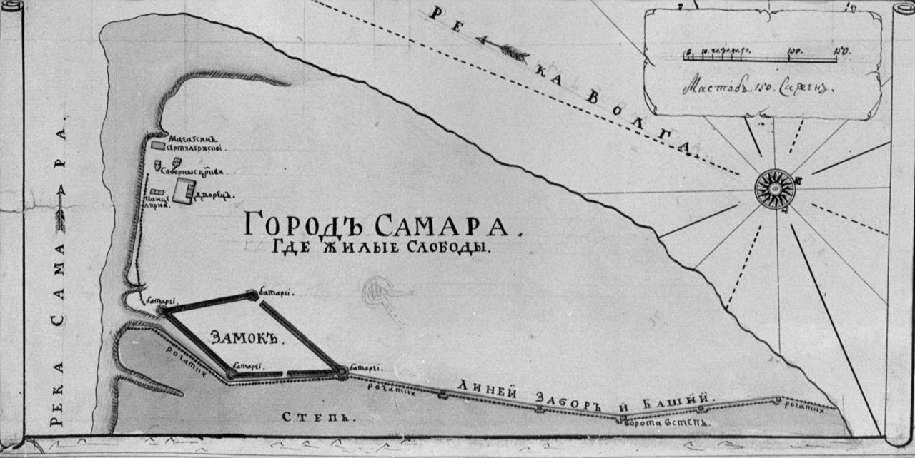 План Самары. Около 1732 г.