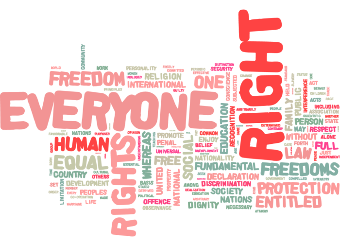 an analysis of the respect for human rights and equality among members of the society