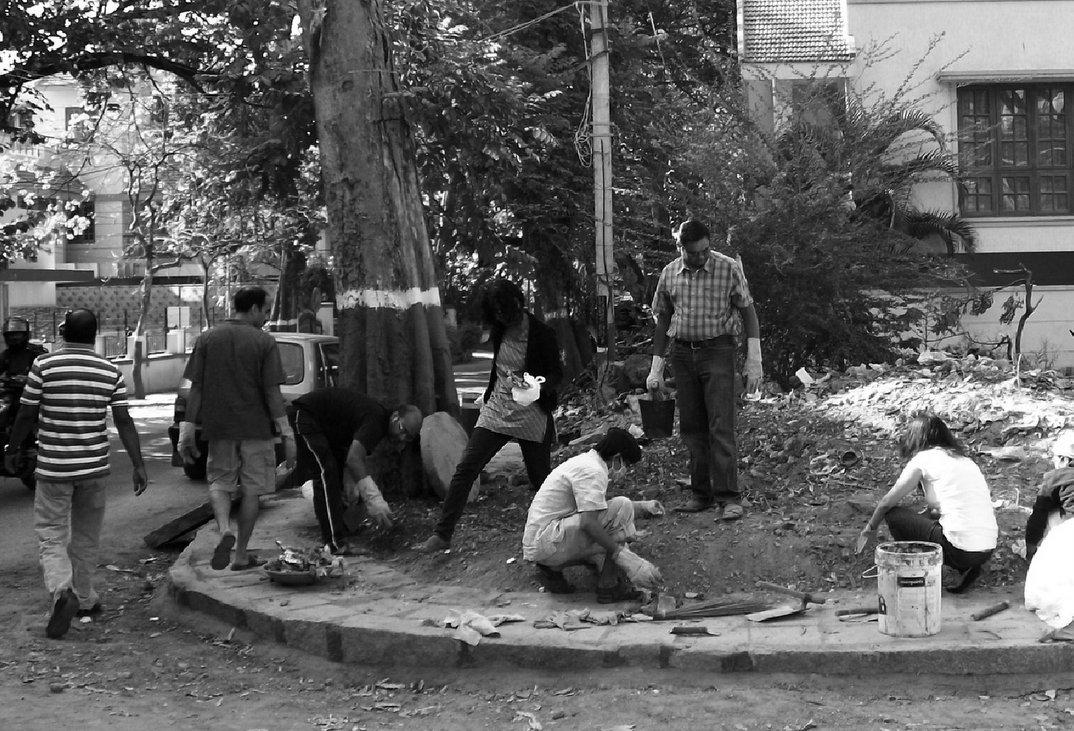 Волонтеры «Ужасного индуса» в Бангалоре