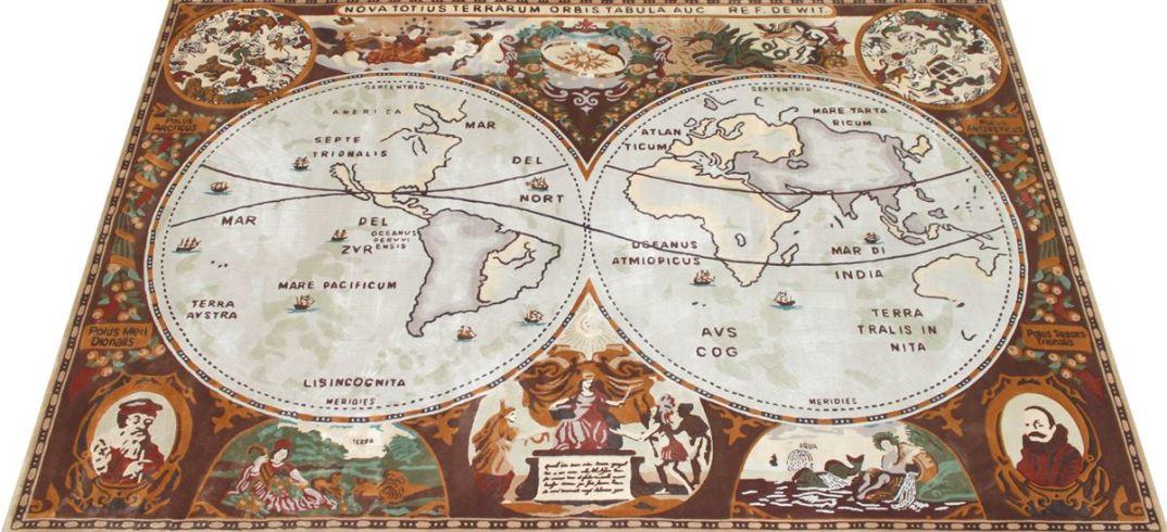 5) Ковер Карта XVI века