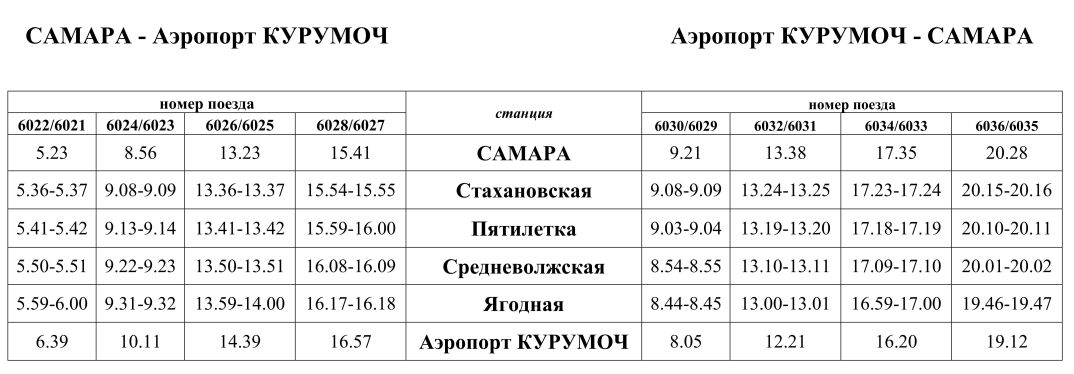 РАСПИСАНИЕ движения электропоездов АЭРОПОРТ_01