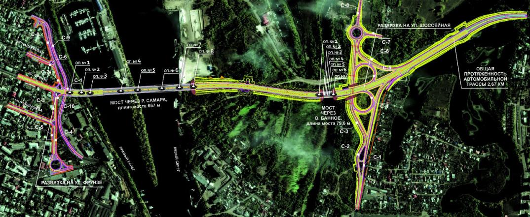 Схема Фрунзенского моста