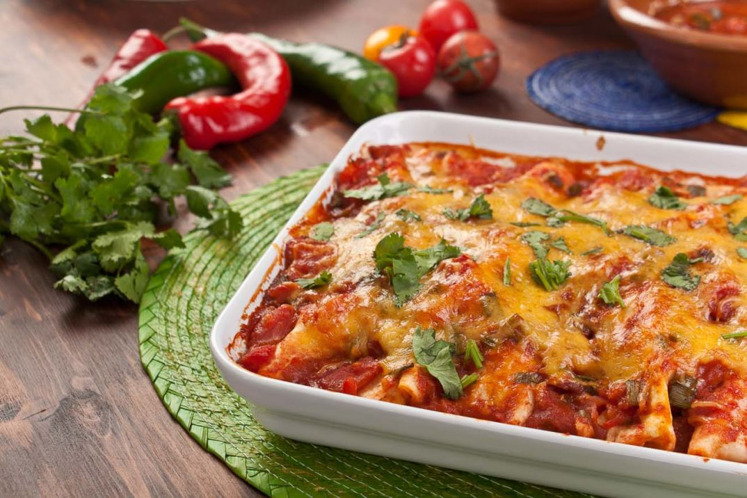 Mexican_Vegetarian_Bean_Cheese_Enchiladas_Recipe