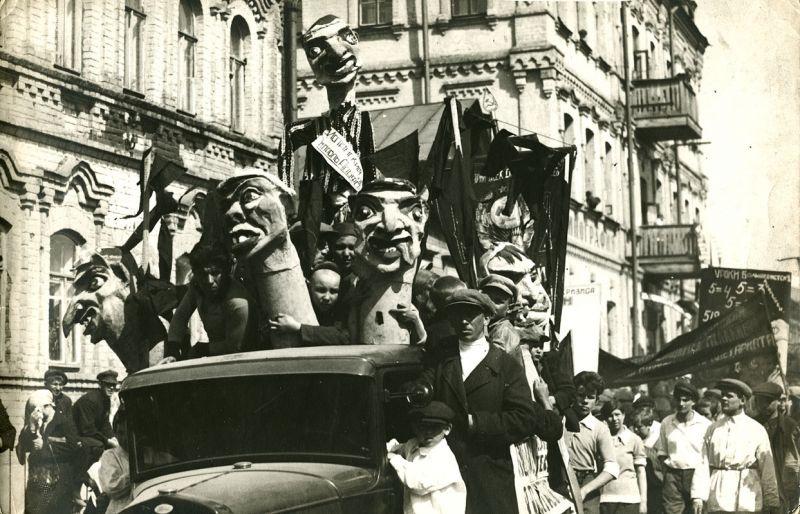 1931 Май в Самаре, маски-скульптуры Копылова