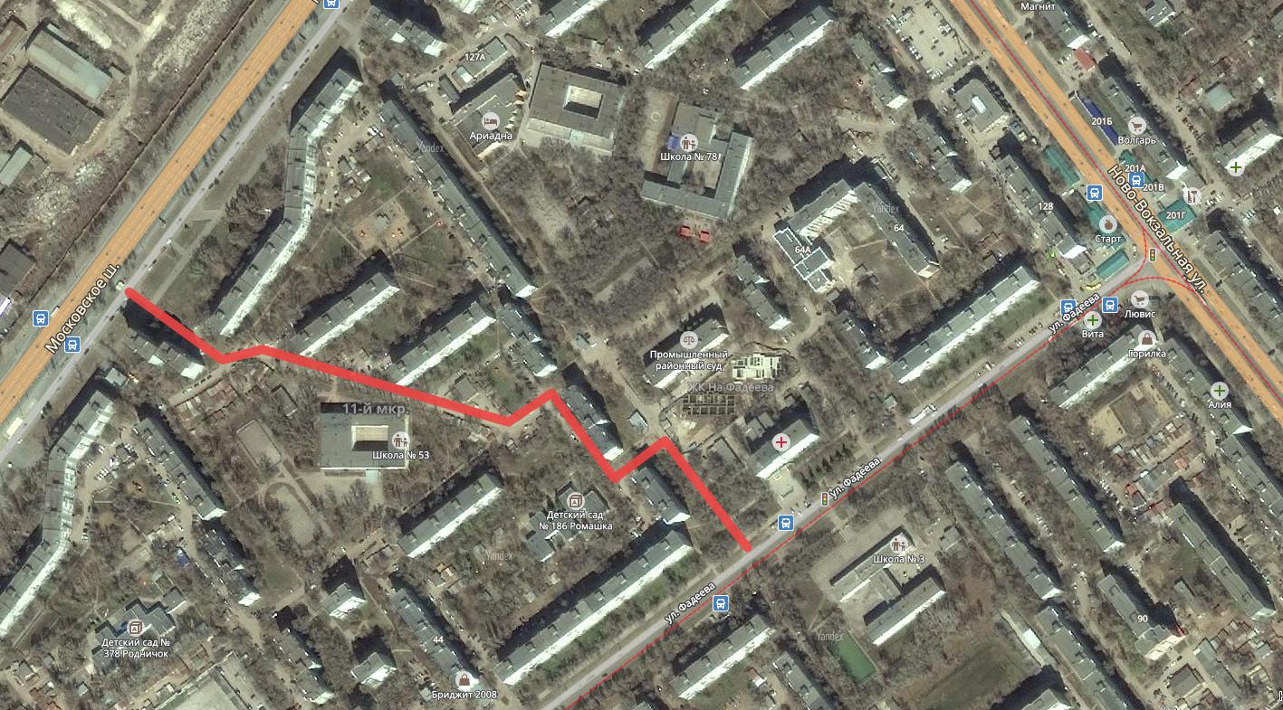 Объезд пробки на Ново-Вокзальной