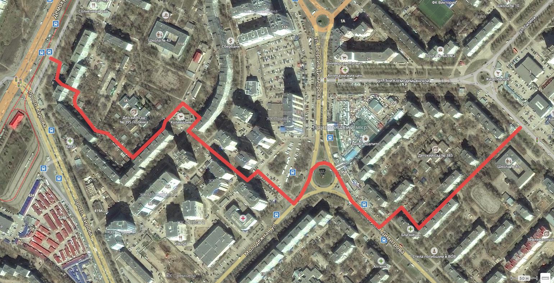 Объезд пробки на проспекте Кирова и Георгия Димитрова