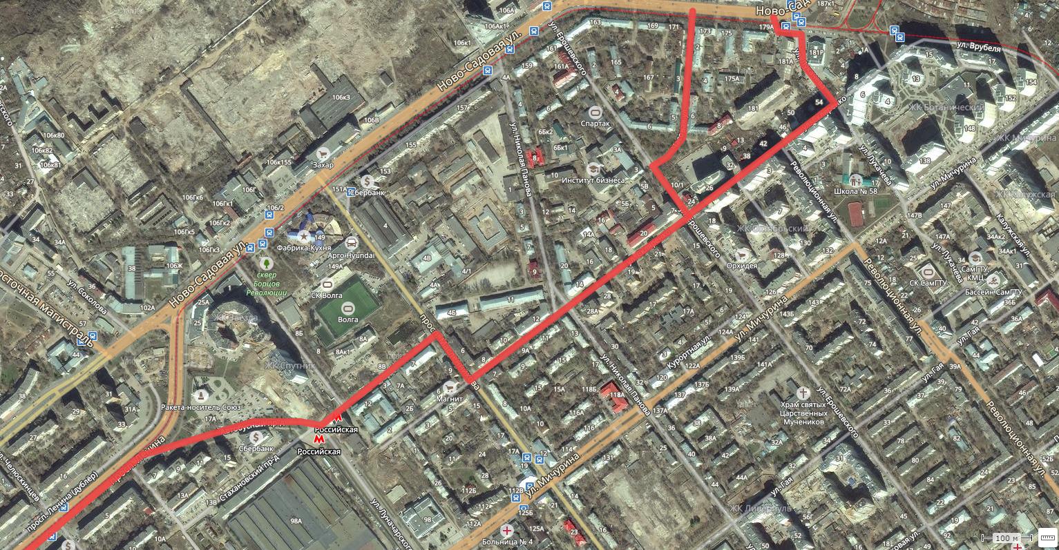 Объезд пробки на проспекте Ленина