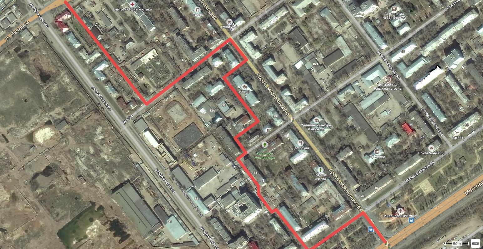 Объезд пробки по проспекту Масленниковка