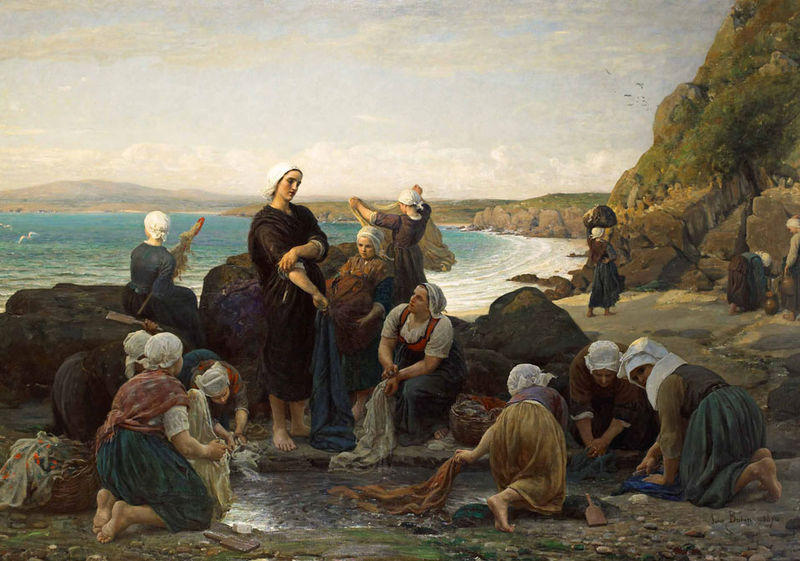Jules-adolphe-Breton-The-Washerwomen-of-the-Breton-Coast