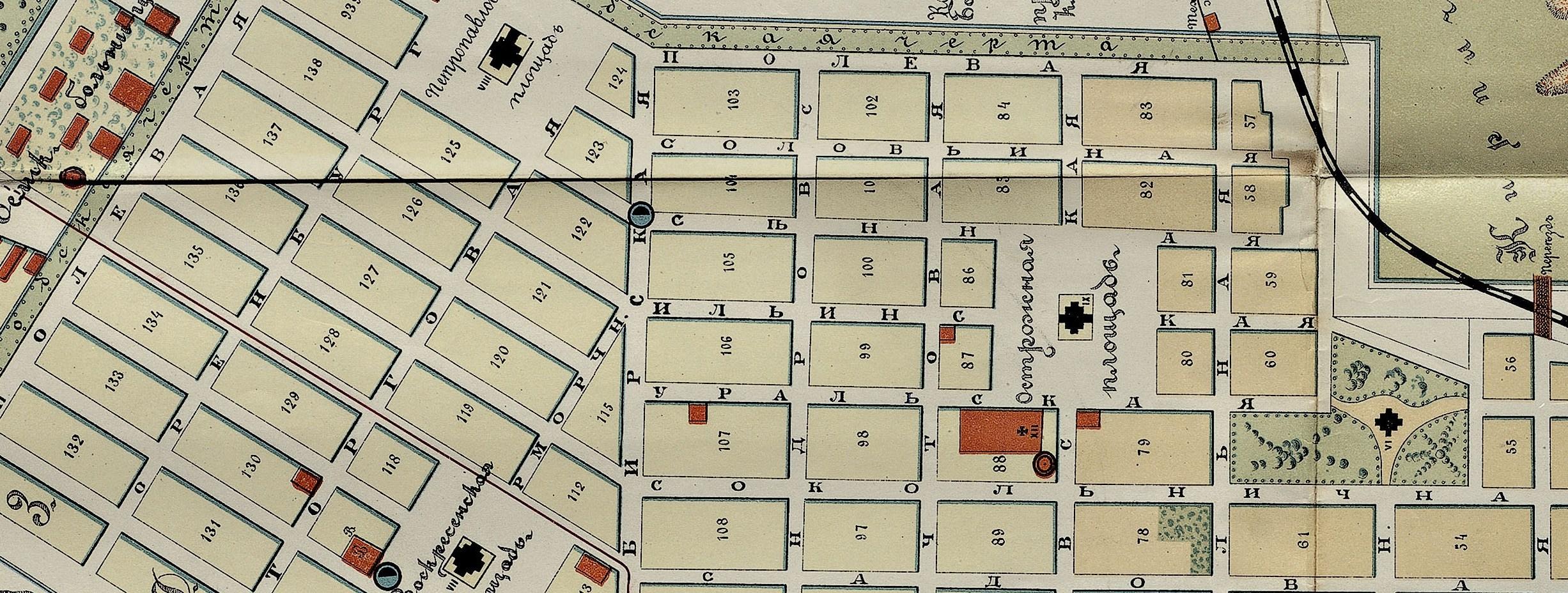 Карта Самары 1894 года