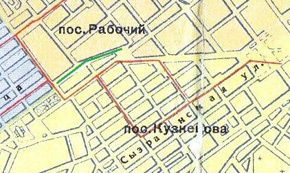 Карта Самары 1940 года