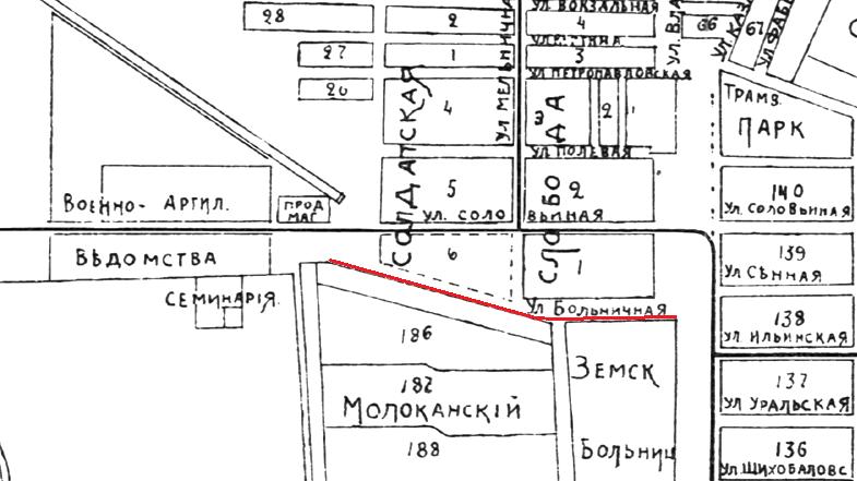 Карта дореволюционной Самары 1915