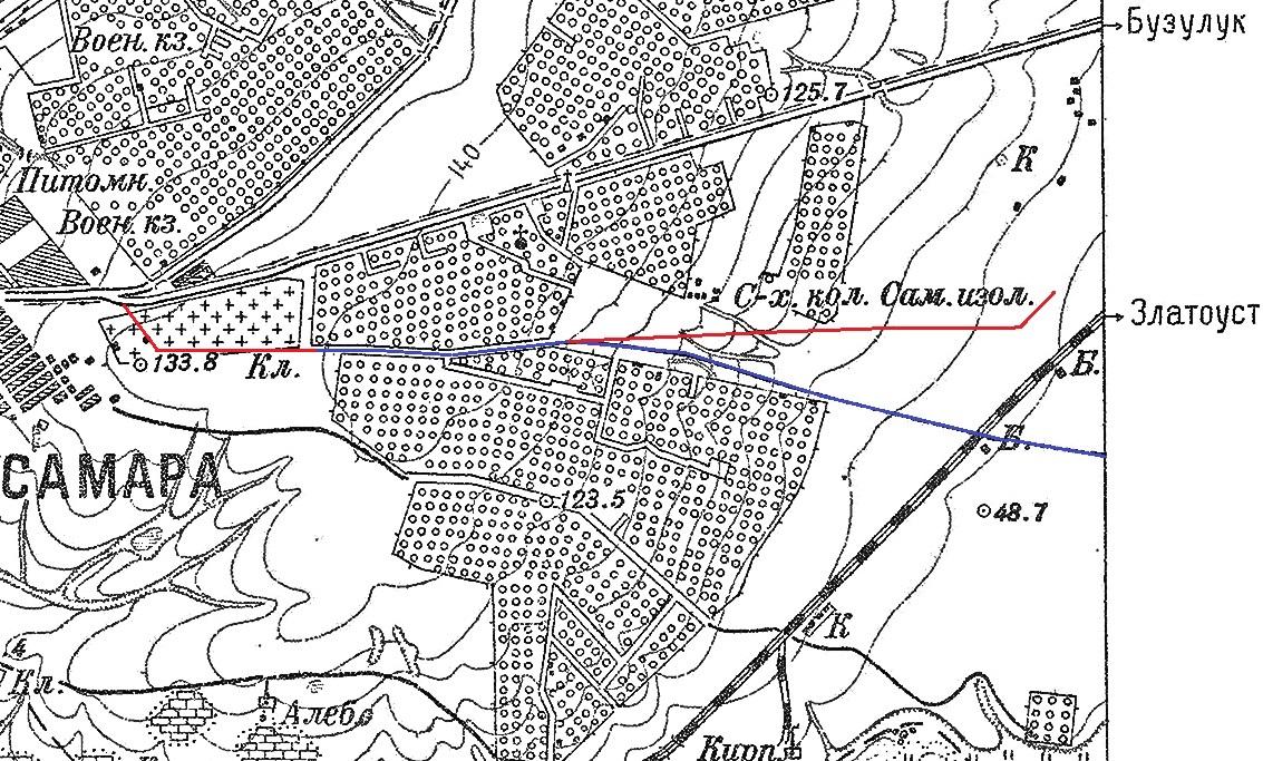 Карта Самары. 1927