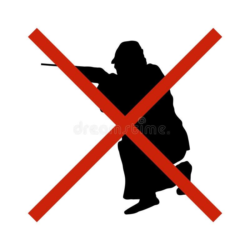 отсутствие-охоты-запрещенного-запаса-знака-для-зон-где-охотиться-106835883