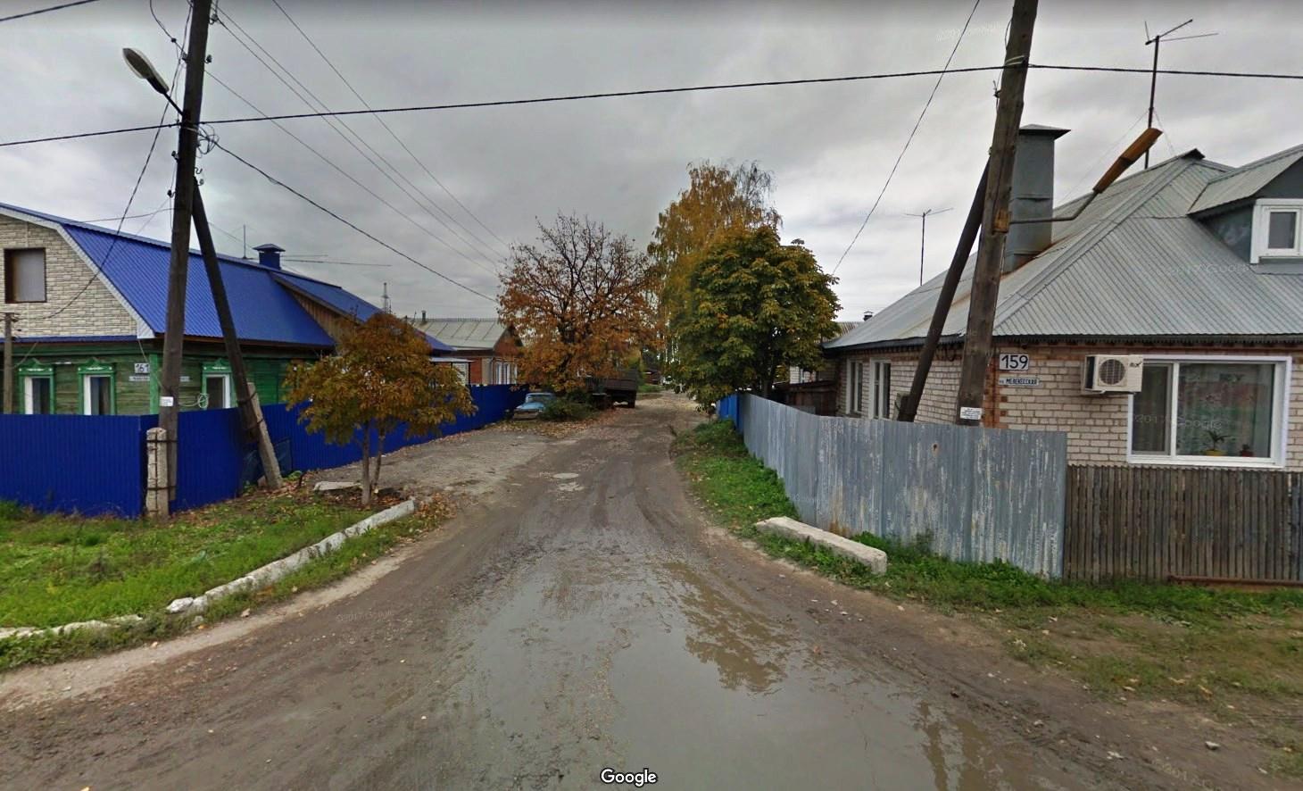 Запасной проезд. Вид от Мелекесской.