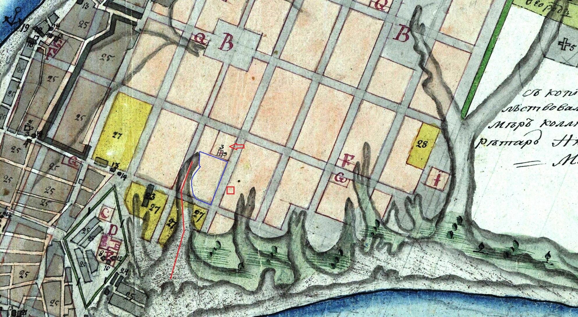 Карта Самары 1804 года