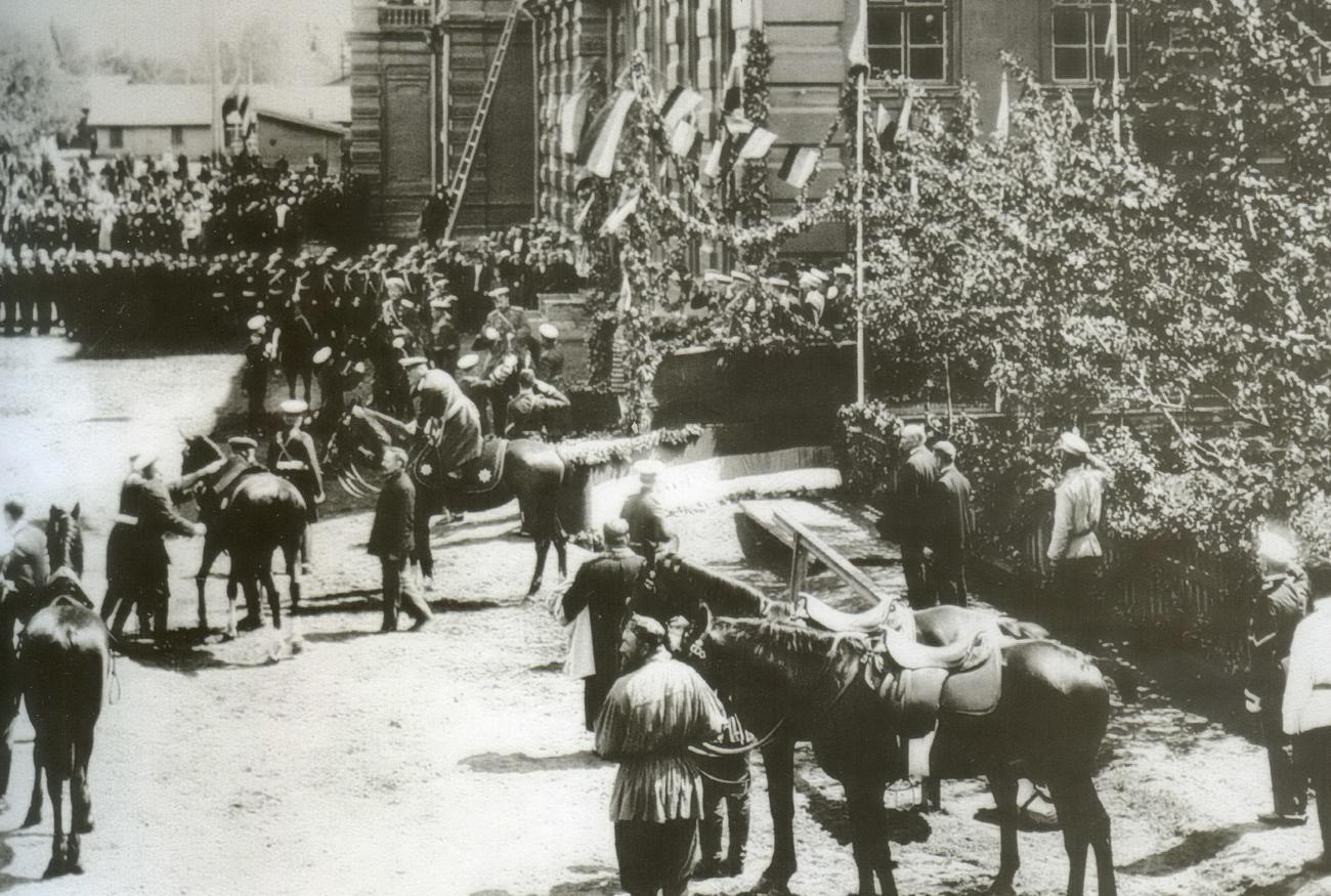 Прибытие Николая II