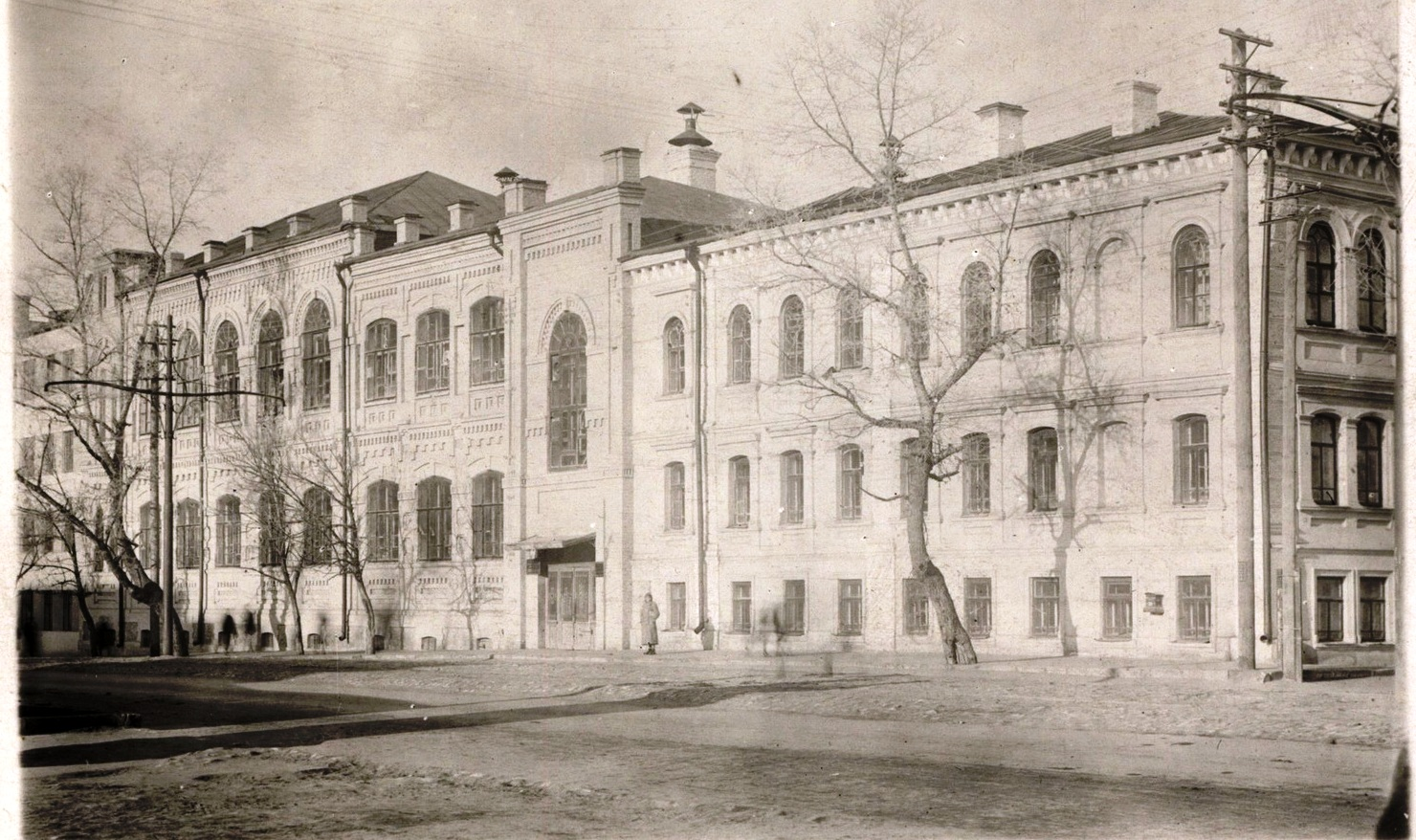 Самарский университет в 1918 году (пересечение улиц Чапаевской и Красноармейской)