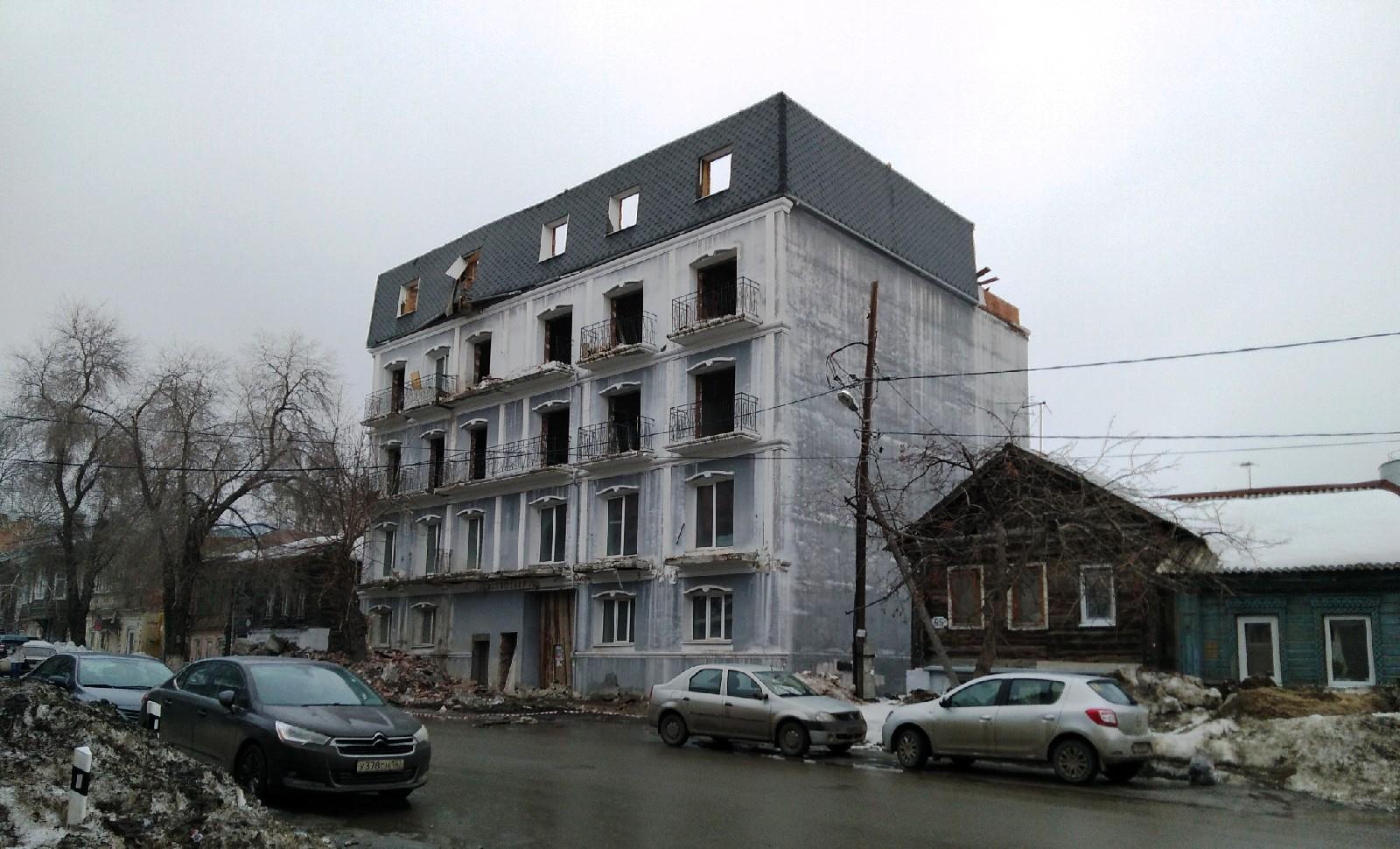 Снос дома на Садовой