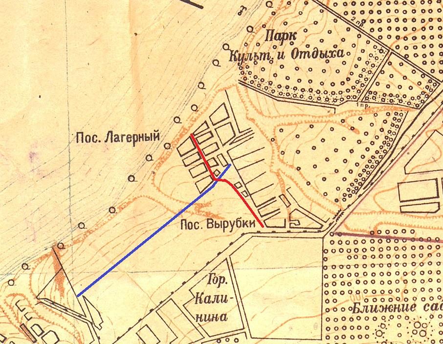 Карта Самары 1934 год