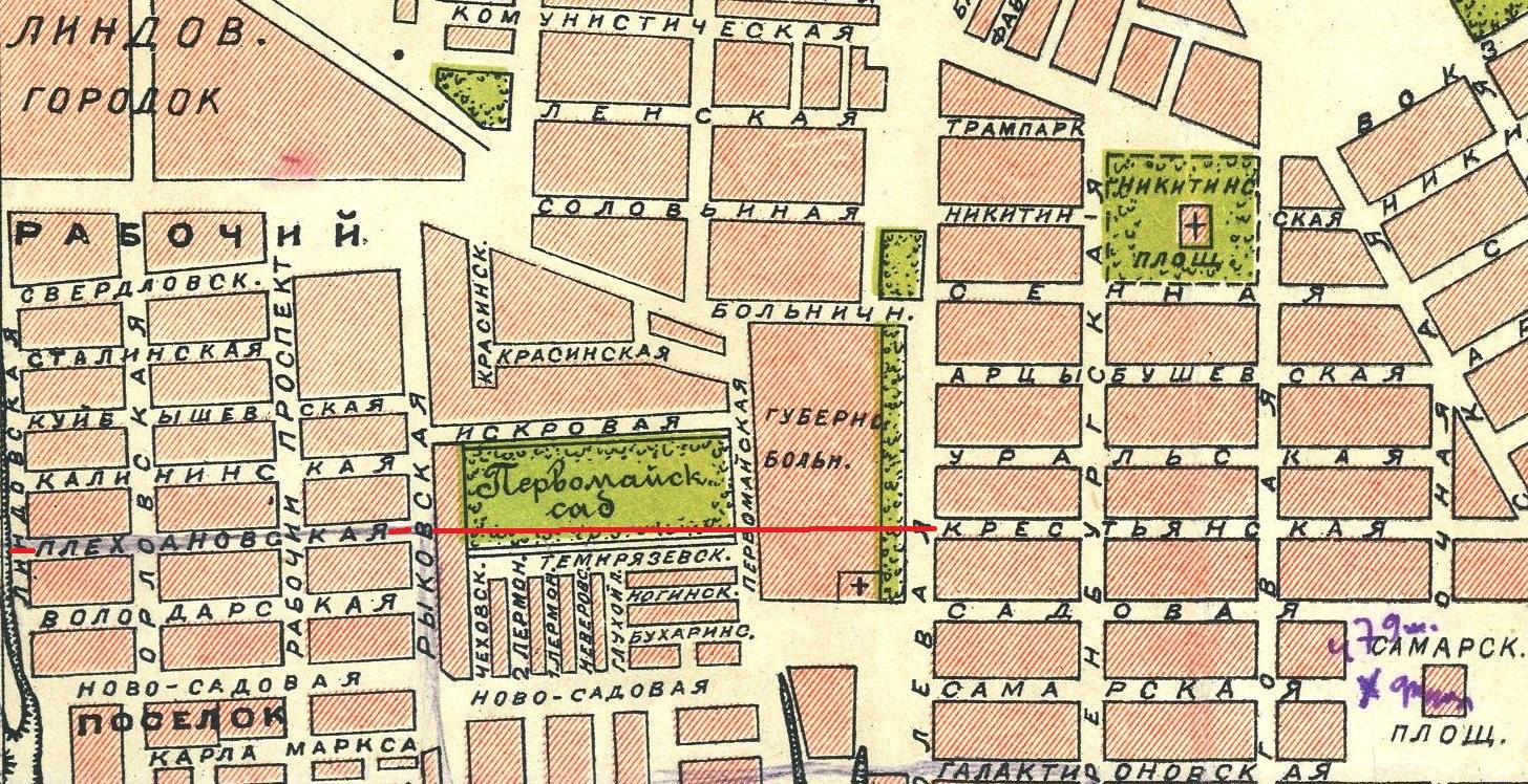 Карта 1927 года