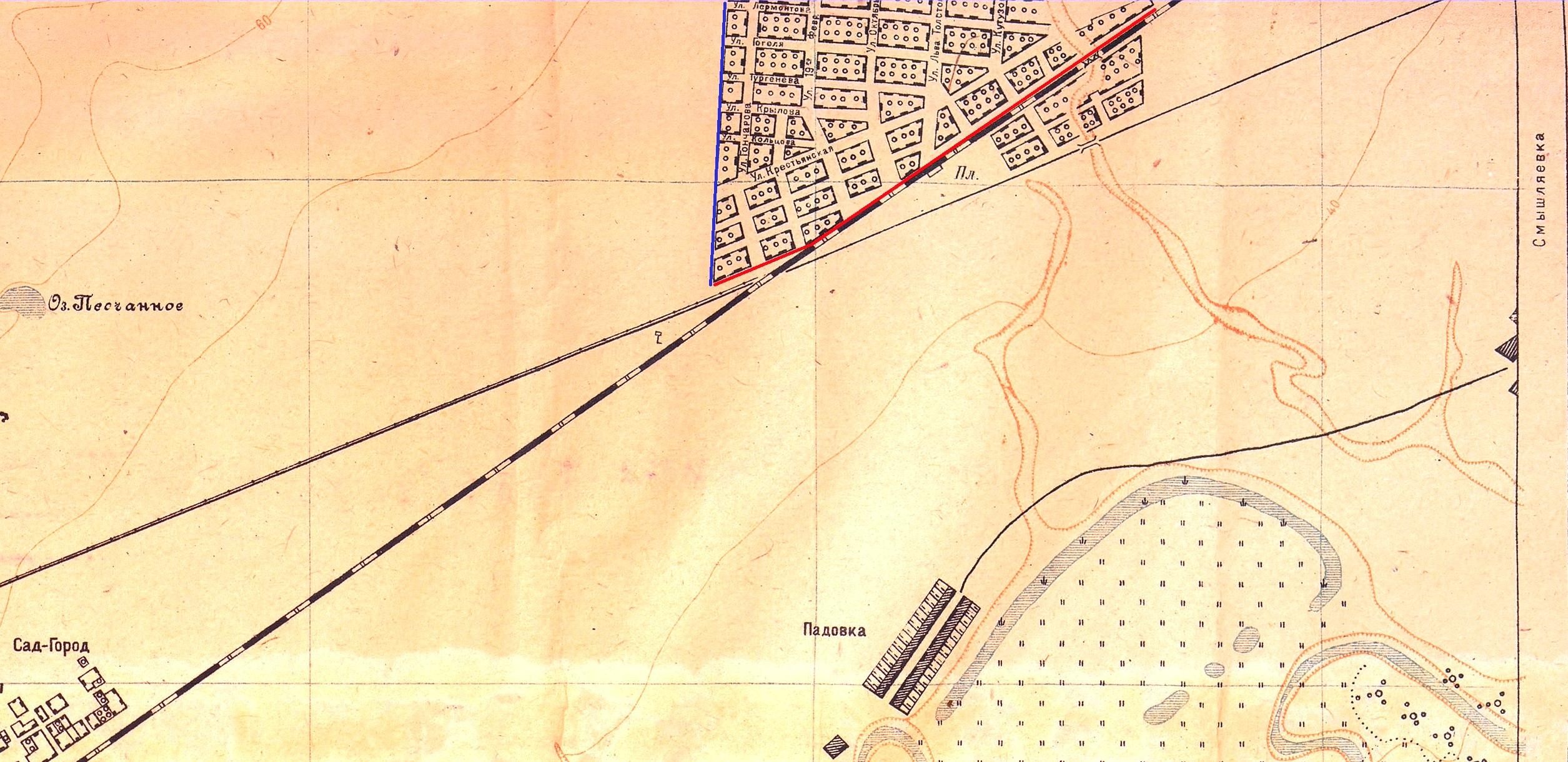 Карта Самары 1934 года
