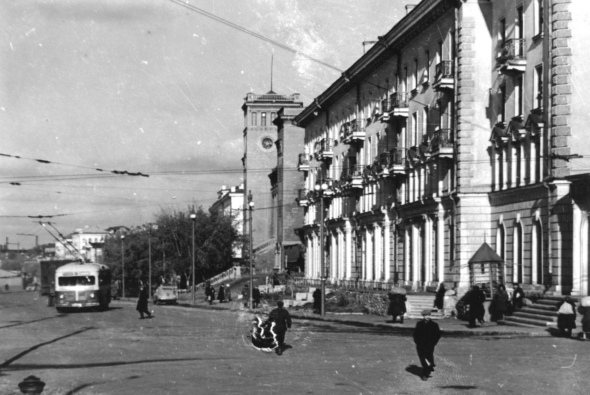 Улица Максима Горького в 1950 году