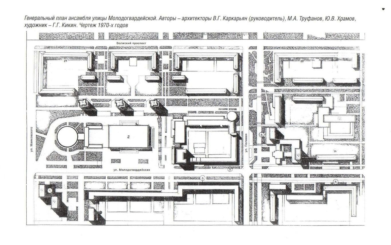 Гепплан застройки улицы Молодогвардейской