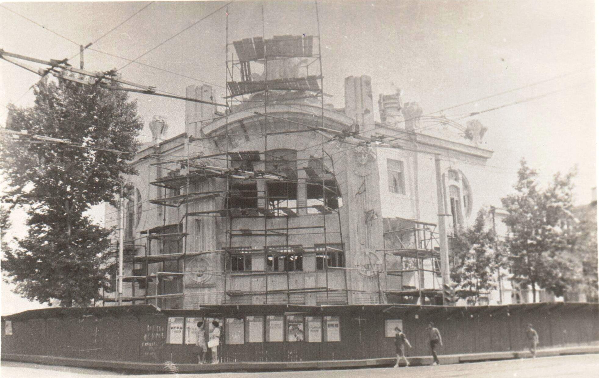 Демонтаж театра-цирка Олимп