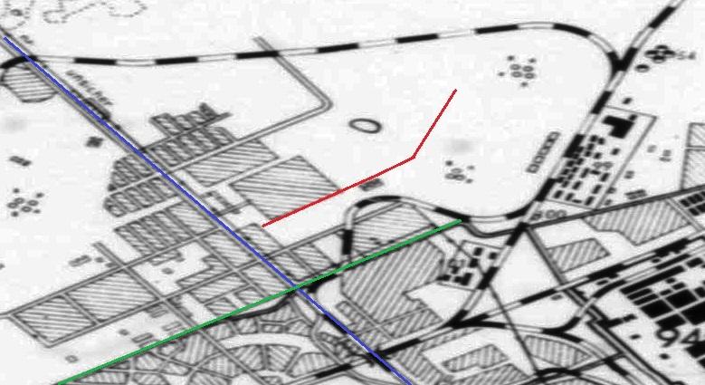 Карта Безымянки 1943 года
