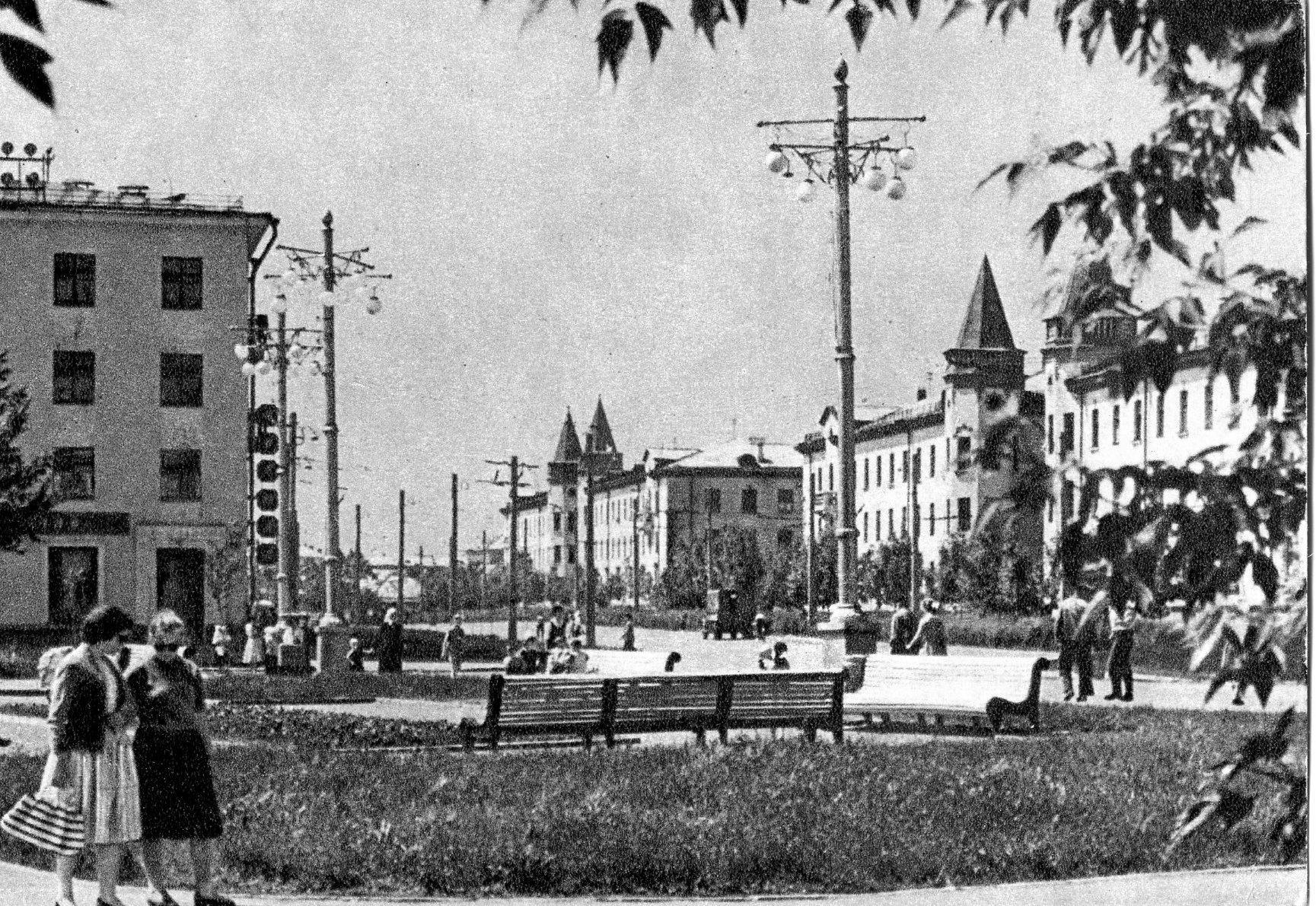 Куйбышев, проспект Металлургов. 1962 год