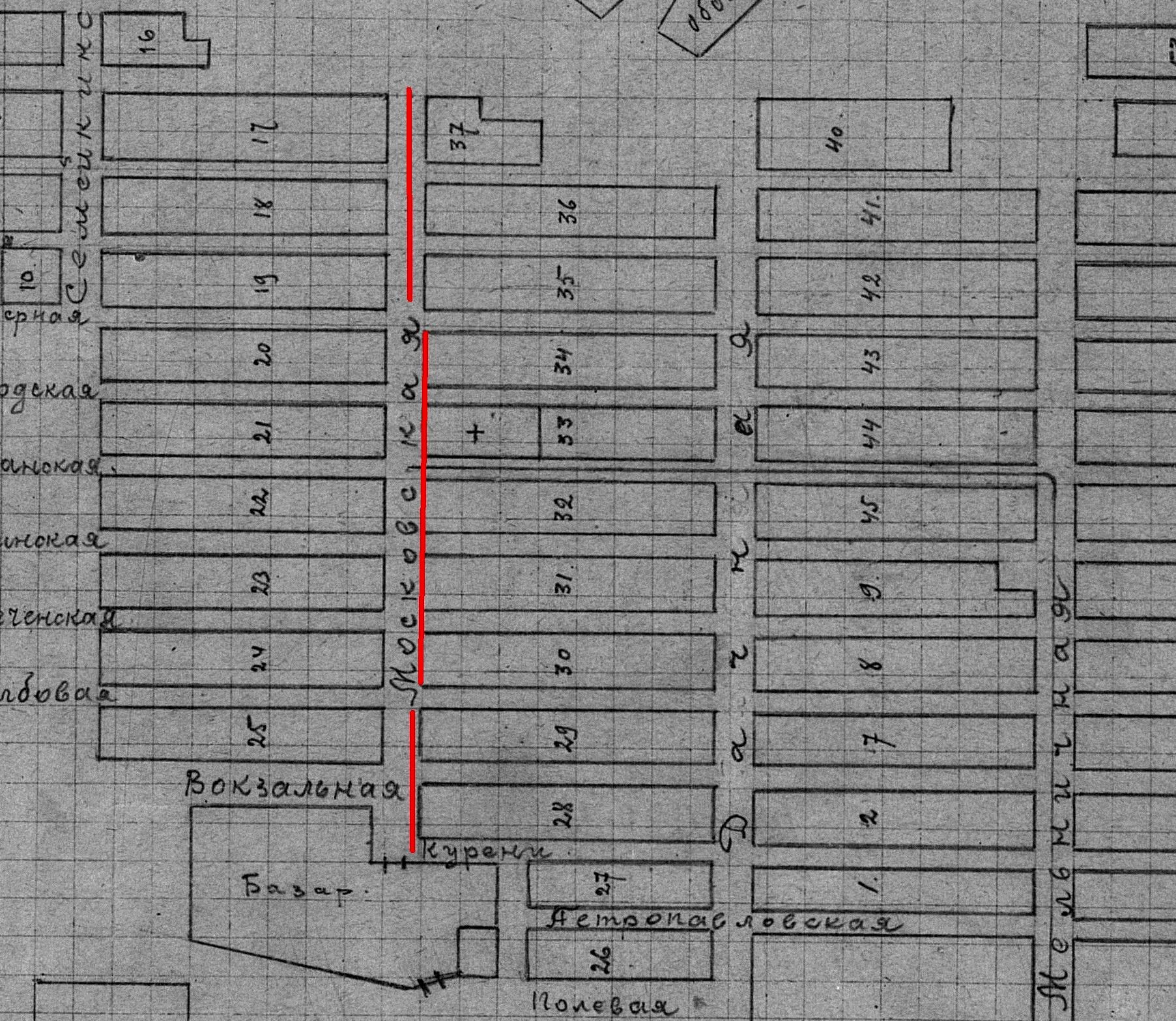 Московская-ФОТО-02-Самара-1924-схема Мещанского посёлка
