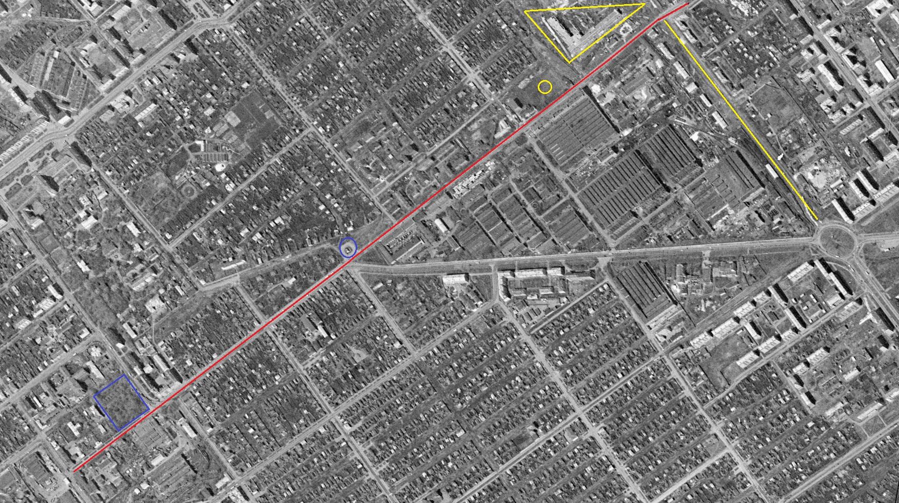 Улица Мичурина в 1965 году