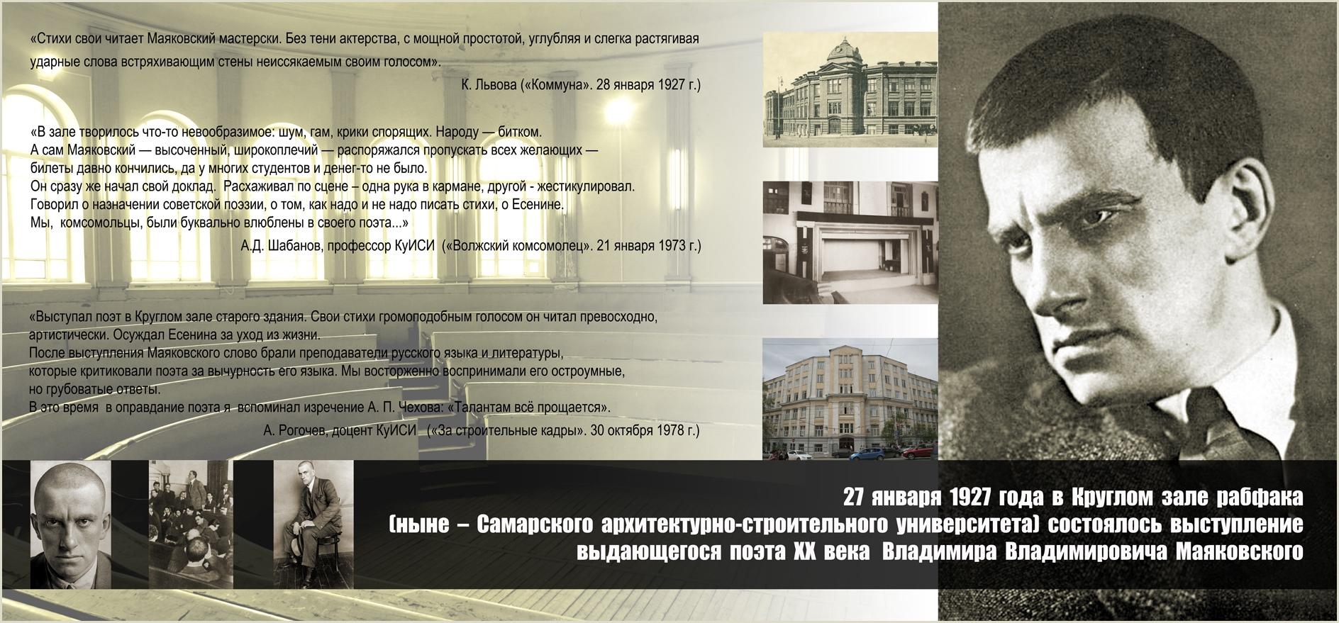 Выступление Владимира Маяковского в Строяке