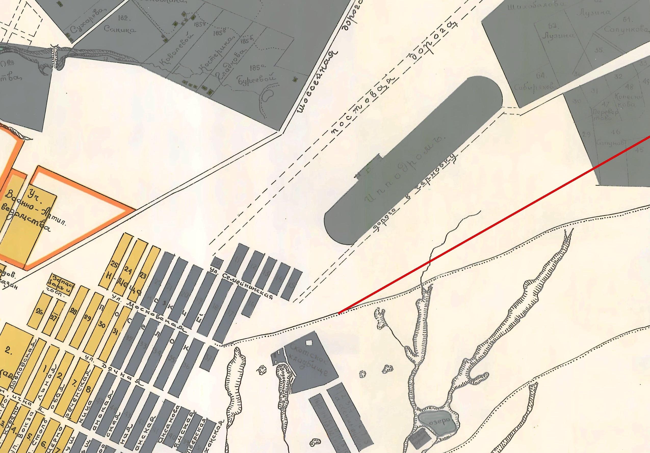 Дореволюционная карта Самары