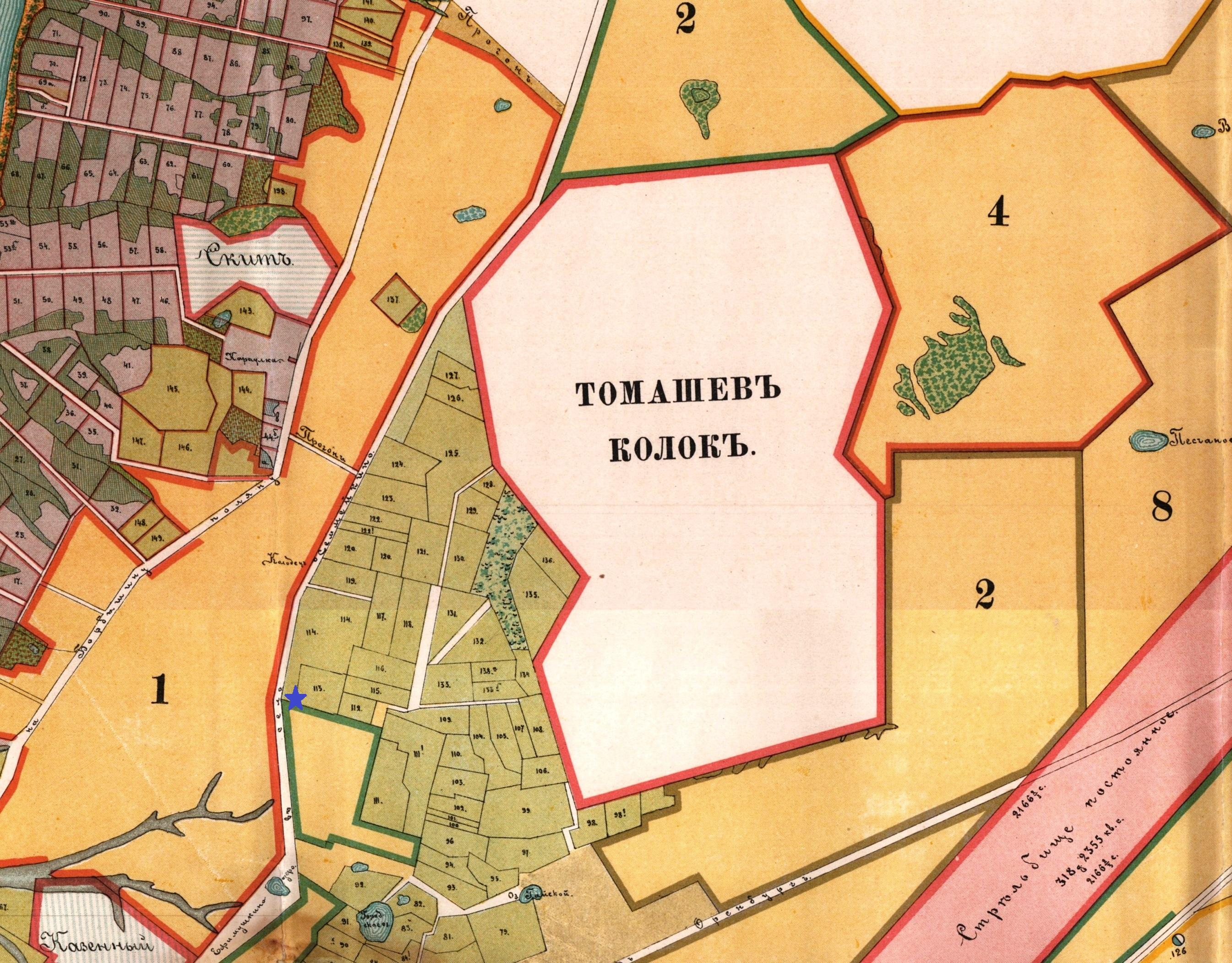 Карта Самары 1898 год