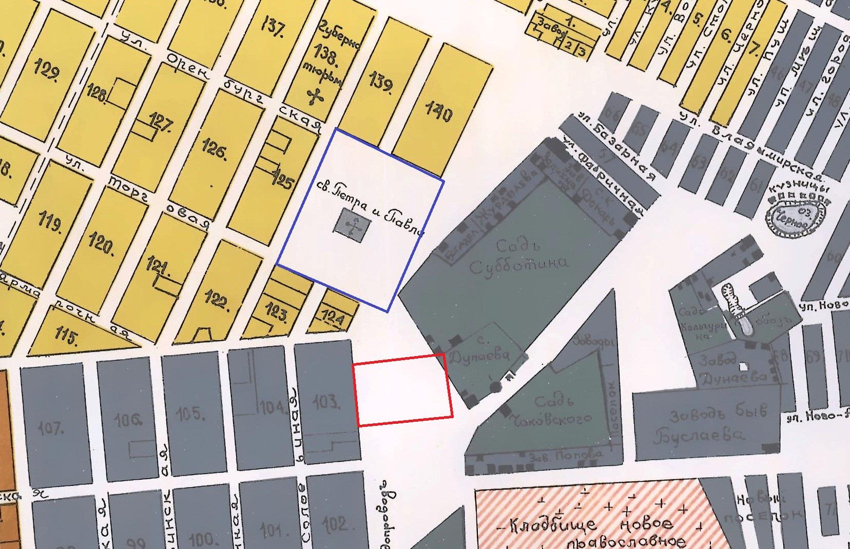 Карта 1910 года Самара