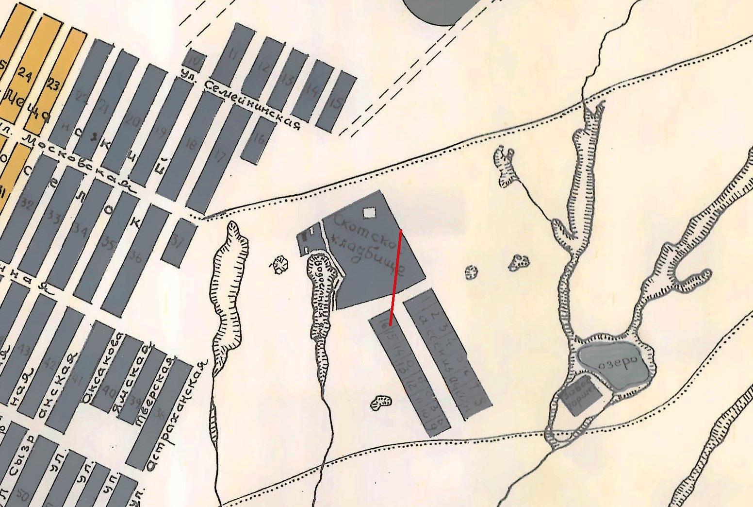 Карта 1910 года