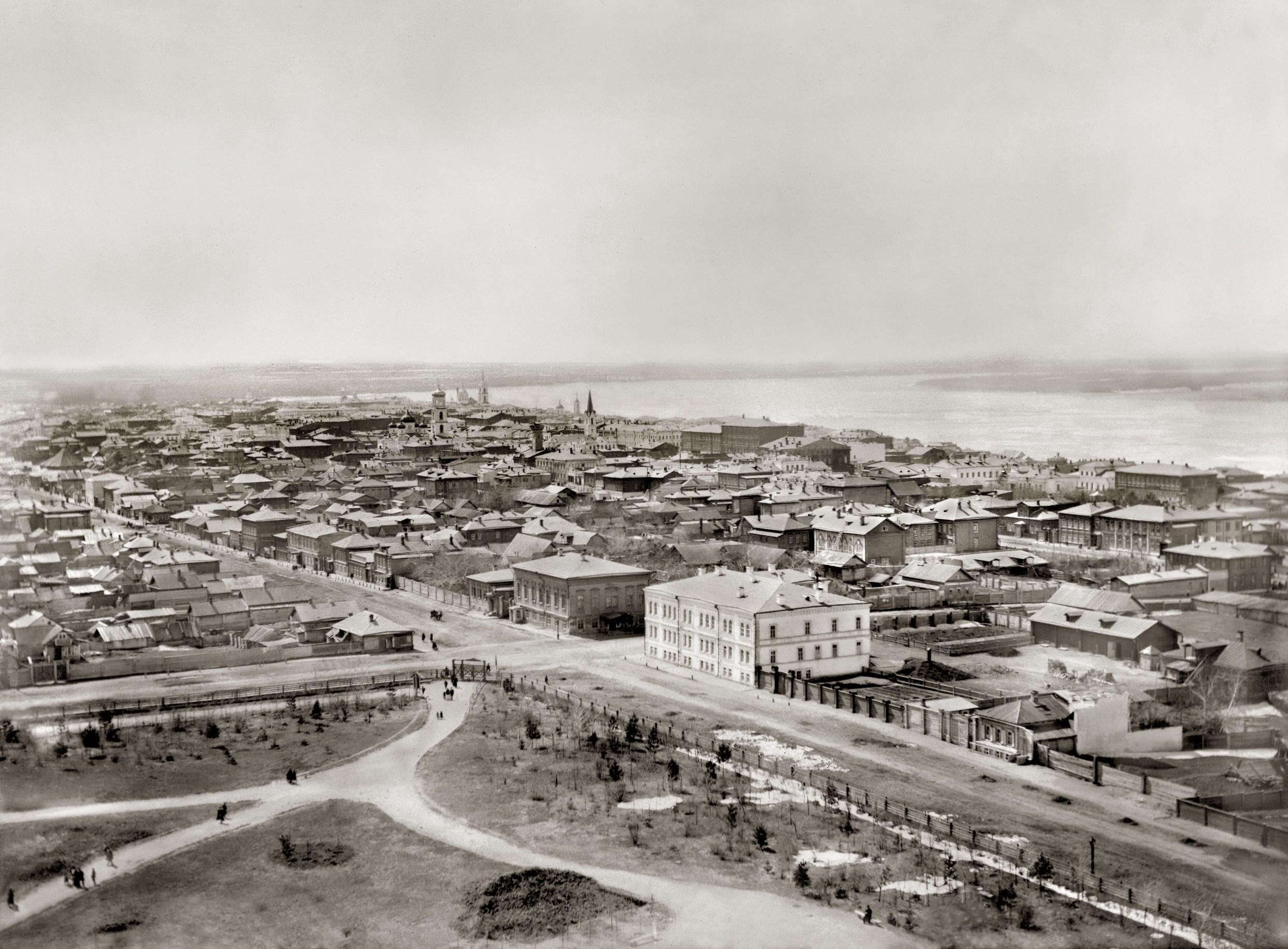 1890 год. Вид с Кафедрального собора