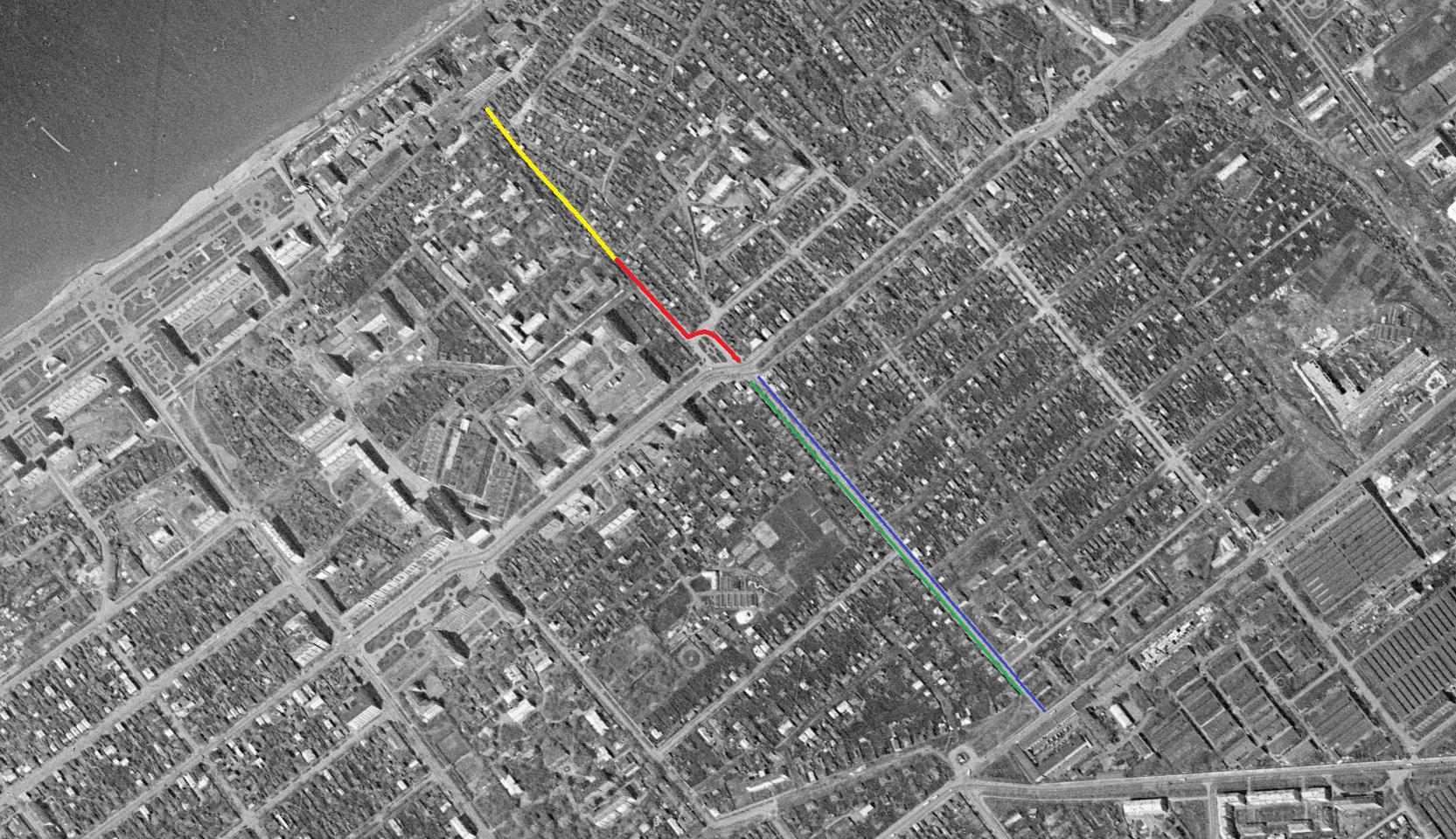 Улица Осипенко в 1965 году