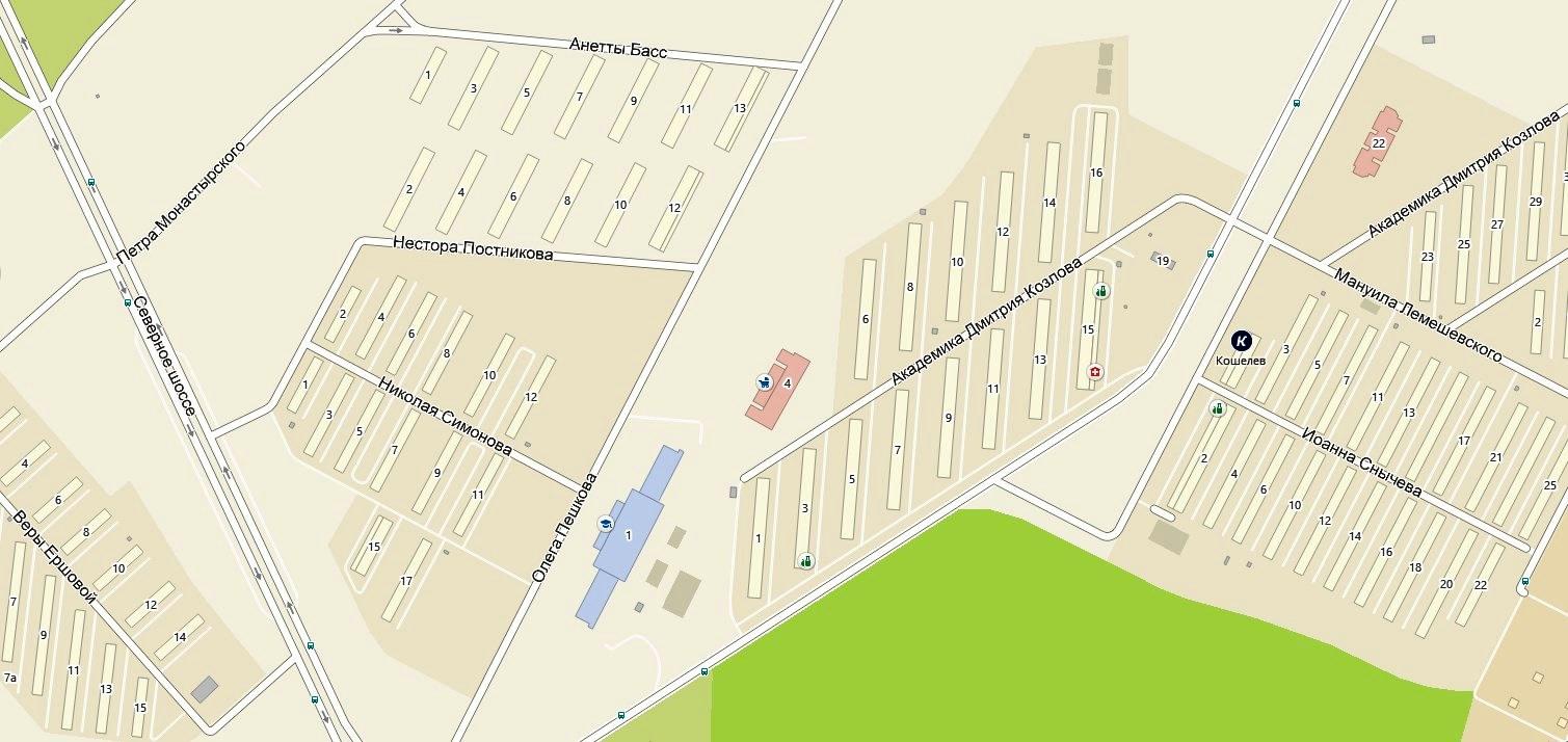 Кошелев-парк карта
