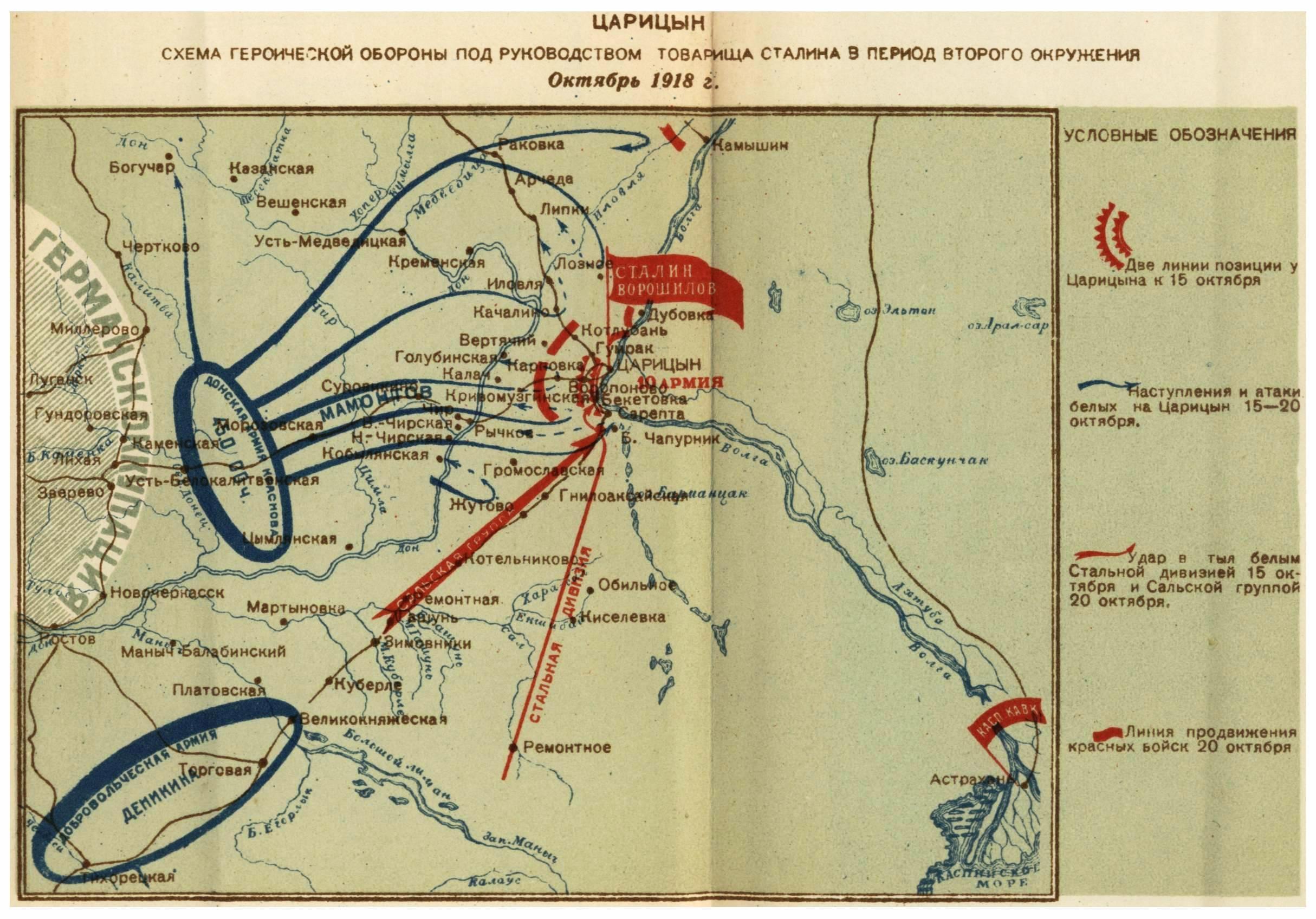 Сталин и Ворошилов в Царицыне