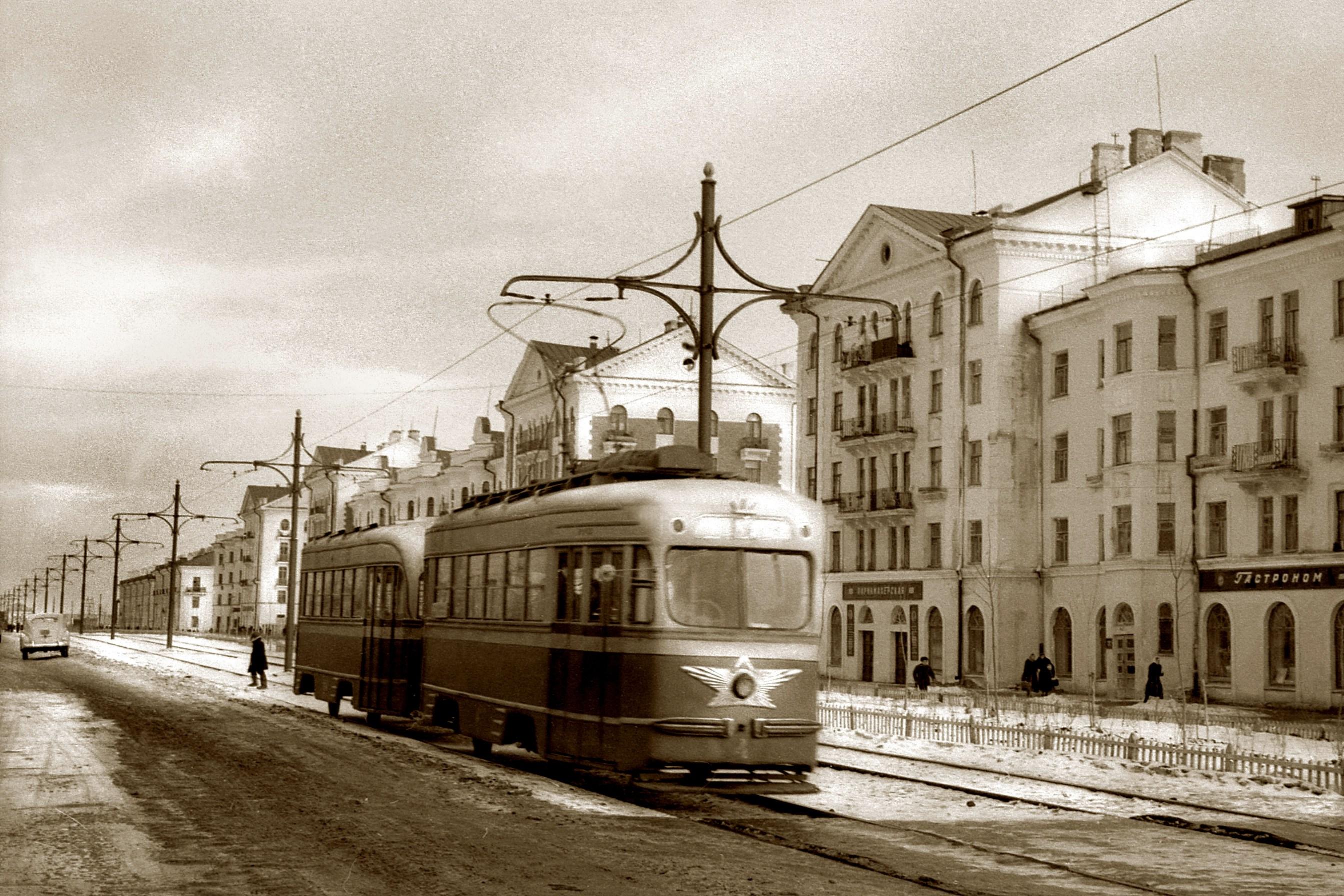 Улица Победы в 1954 году