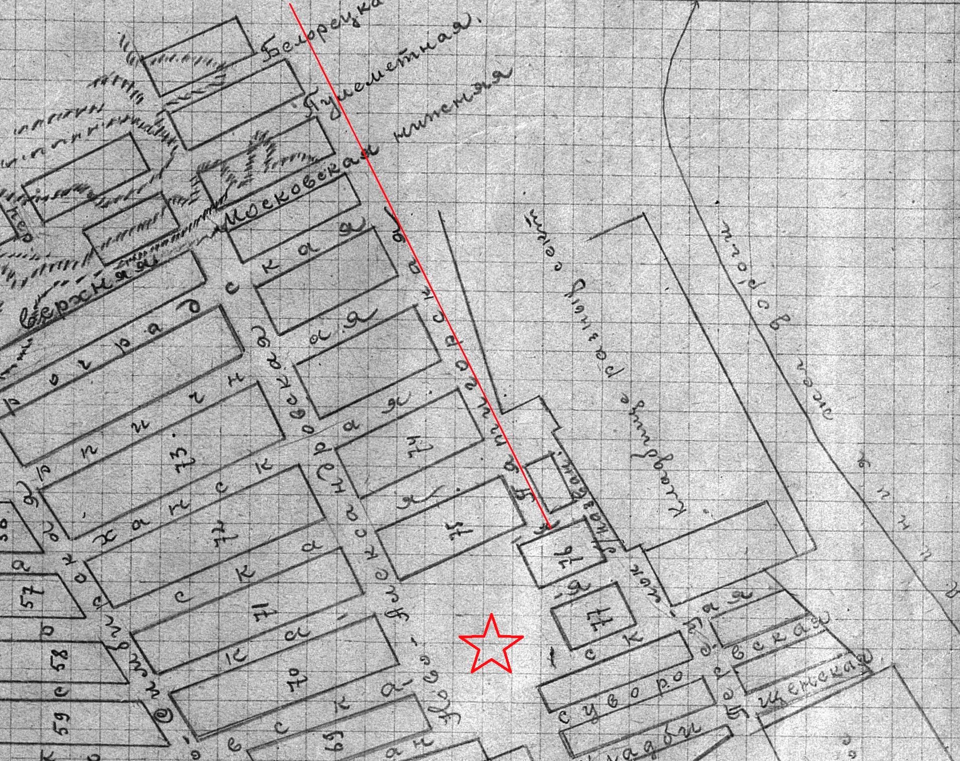 Пятигорская-ФОТО-02-Самара-1924-схема Мещанского посёлка